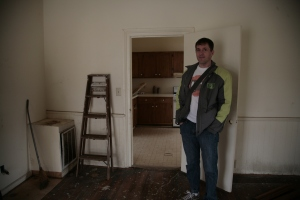 Marc checks out the inside of the house for the first time