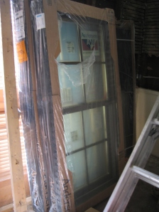 What will be totally new bedroom windows (Anderson, clad exterior, wood interior), once they are actually IN the windows, IN the bedroom